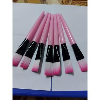 Cọ quét mặt nạ ( cọ quét nạ, trang điểm, đắp mặt nạ ) cán nhựa hồng tiện lợi thumbnail