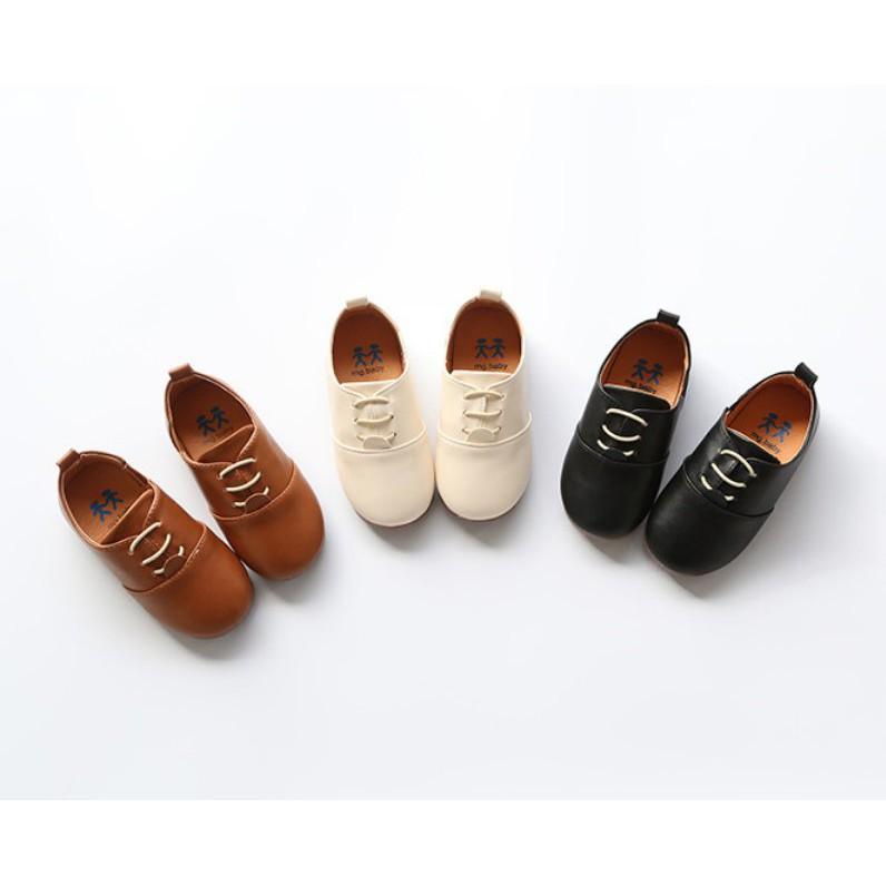 Giày tây bé trai nhỏ xíu xiu. Khogiaytreem.com với những mẫu mã giày dép mới nhất