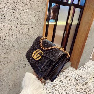 Túi xách nữ, Túi đeo chéo giập vân hoa văn, hộp trước đựng được nhiêu đồ, sang trọng phối đồ rễ ràng khi các