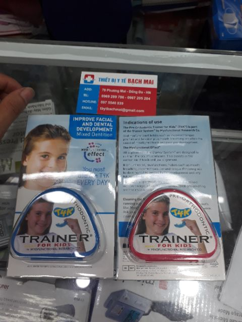 Chỉnh răng trainer xanh,hồng cho bé 6-10 tuổi hàng chính hãng nhập khẩu từ úc
