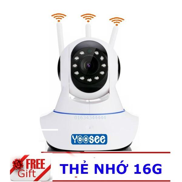 Combo Camera yoosee 3 anten kèm thẻ 16G
