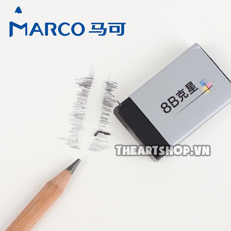 Gôm tẩy MARCO cao su 8B - MARCO 8B Eraser (Tẩy được 8B)