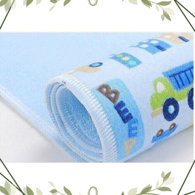(Mẫu_Hot) Miếng lót chống thấm 3 lớp mềm mại cho bé sơ sinh(50cm x 70cm)