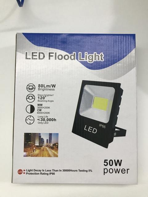 Đèn pha led 50W chuyên công trình, bảng hiệu lắp đặt ngoài trời chống nước IP66 đủ công suất