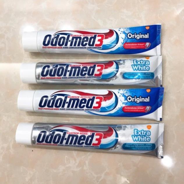 ( HÀNG CHUẨN ĐỨC)Kem Đánh Răng ODOL MED 3 ORIGINAL & EXTRA WHITE