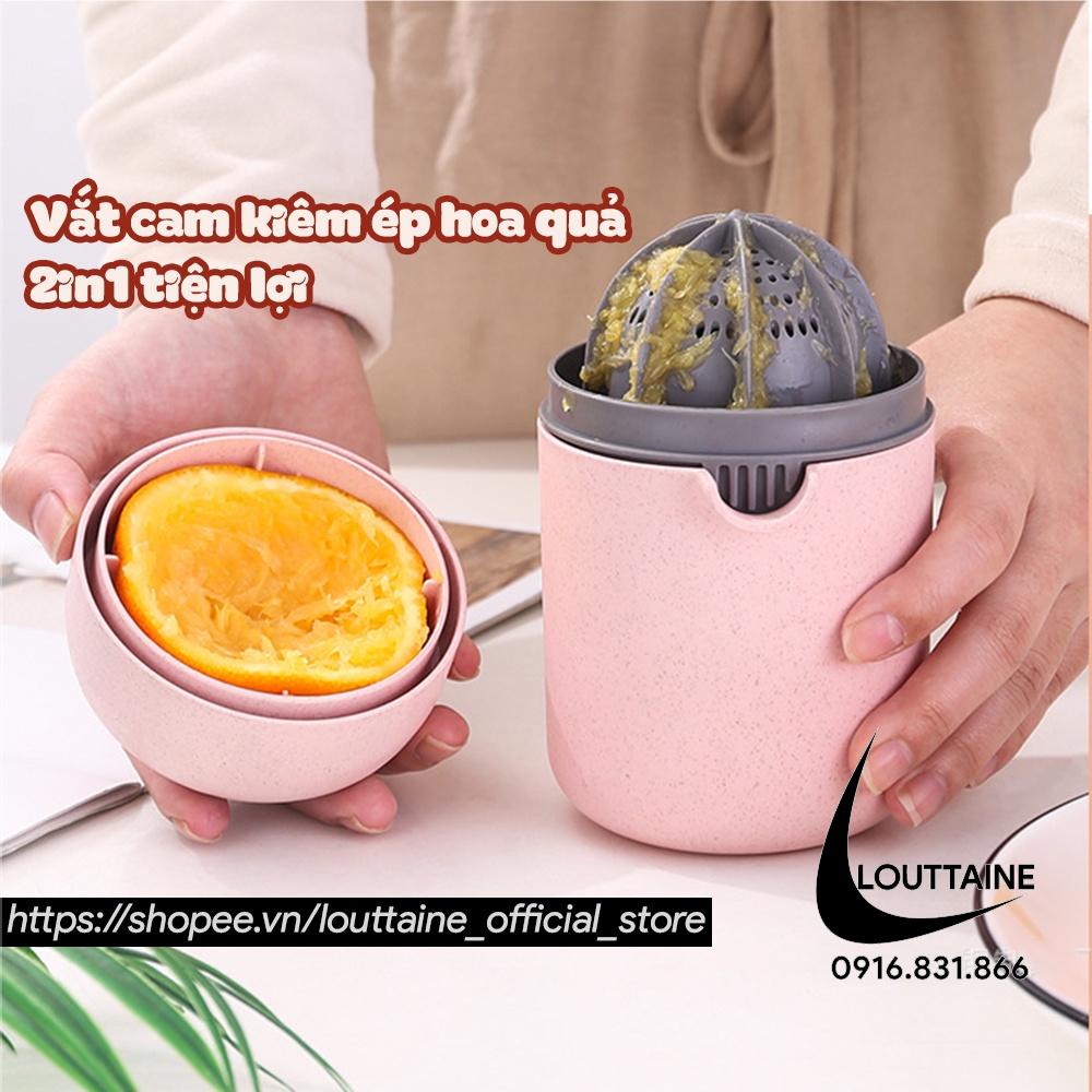 Đồ vắt cam bằng tay dụng cụ ép nước cam chất liệu nhựa lúa mạch 2in1 tiện lợi