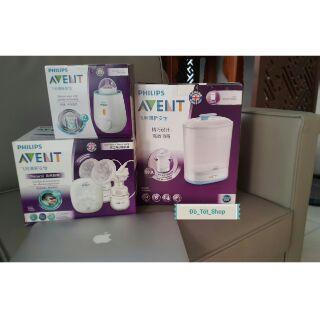 Combo máy hút sữa Avent hoa tuyết điện đôi