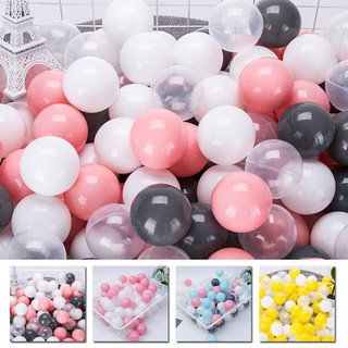 [RẺ NHẤT SHOPEE] 100pcs/Set Mixed Color Soft Plastic Ocean Ball Baby Kid Developmental toy