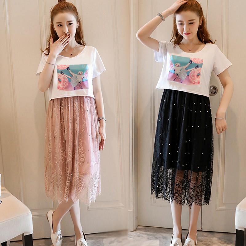 Đầm bầu , váy bầu có khóa cho con ti hiện đại thích hợp cho công sở dạo phố mặc nhà