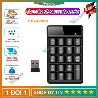 Bàn phím kế toán số không dây giả cơ 2.4GHz 19 phím -DC4204 thumbnail