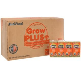 Thùng Sữa Bột Pha Sẵn Nuti Grow Plus Màu Cam 180ml thumbnail