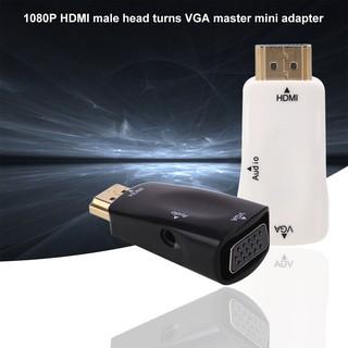 Mini HDMI 1080P HD Male to VGA Female Adapter w/Audio Output For HDTV PC