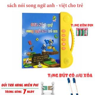 Đồ chơi thông minh cho bé🎀 FREESHIP🎀Sách nói song ngữ Anh Việt- Đồ chơi phát triển trí thông minh cho bé