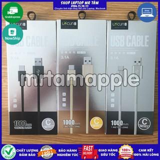 Cáp sạc chuẩn USB Type-C (3.1A) dây dù loại tốt dài 1 mét thumbnail
