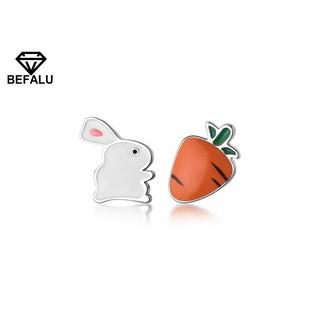 Khuyên Tai Nữ Bạc 925 Hình Chú Thỏ Và Cà Rốt BEFALU - BT03