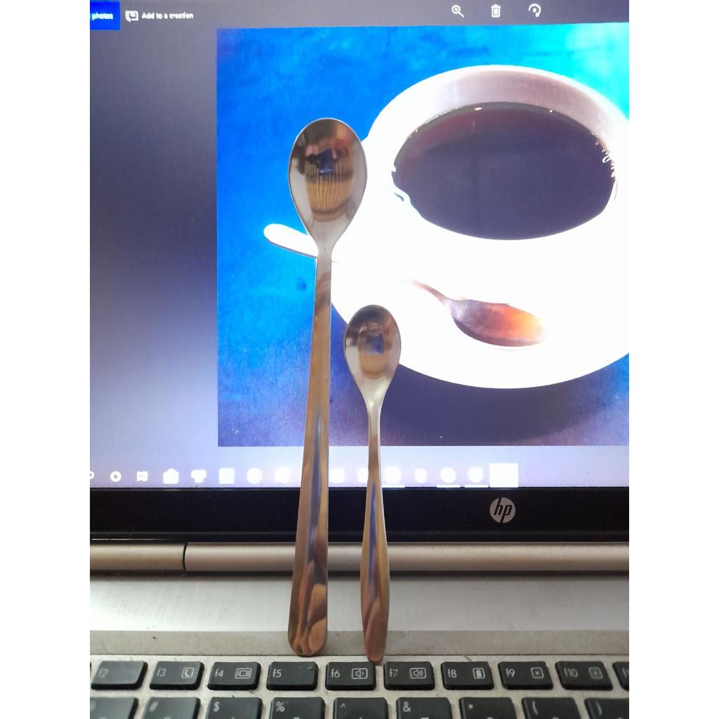 thìa coffe inox - thìa sinh tố inox ( chất dày, bền đẹp )