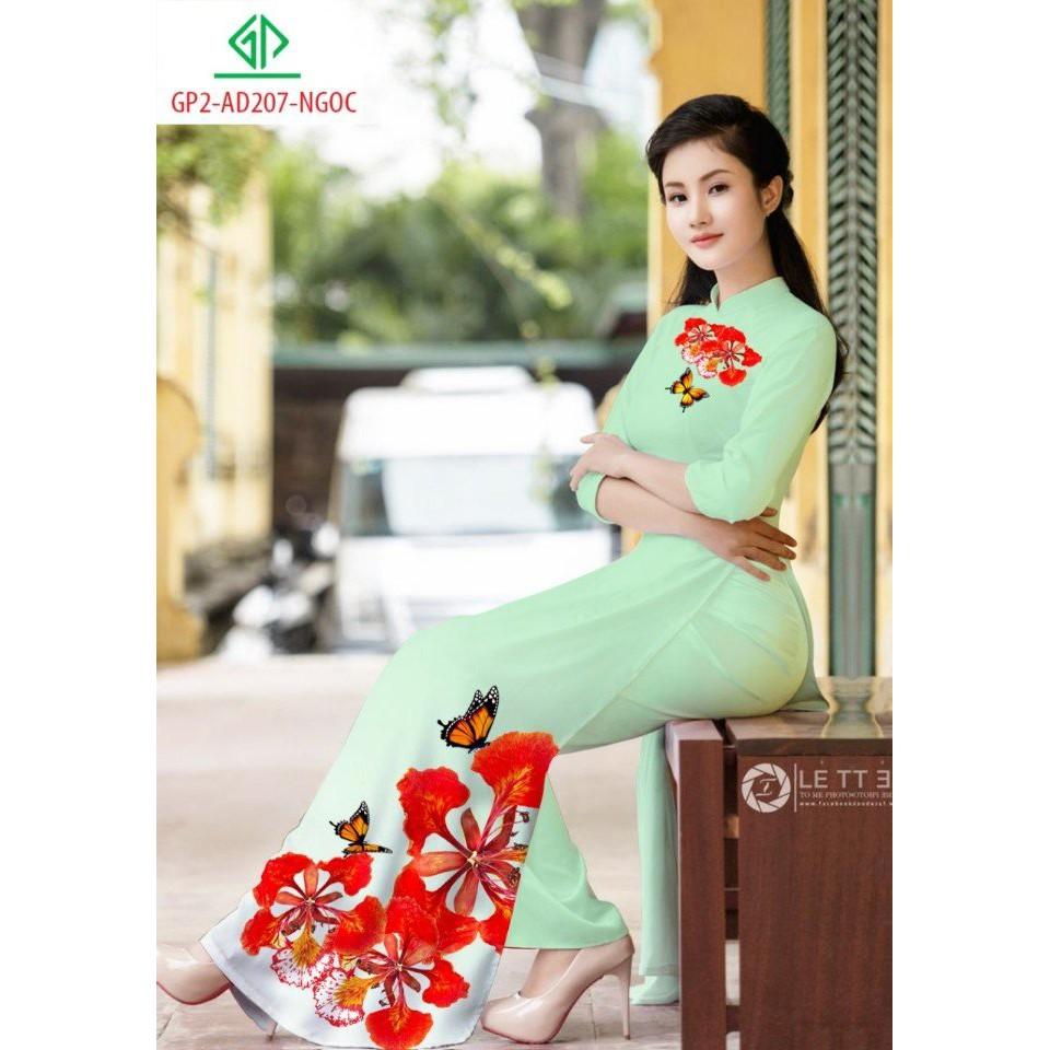 Vải Áo Dài Hoa Phượng Đỏ - 14519161 , 1261120848 , 322_1261120848 , 350000 , Vai-Ao-Dai-Hoa-Phuong-Do-322_1261120848 , shopee.vn , Vải Áo Dài Hoa Phượng Đỏ