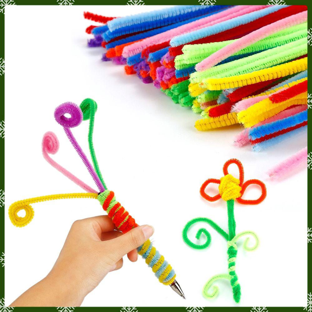 100pcs Chenille Sticks For Craft Children Kid Pipe Cleaner Stems Craft Ziyi