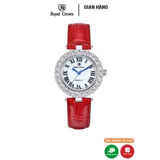 Đồng hồ nữ chính hãng Royal Crown 6305 dây da đỏ thumbnail