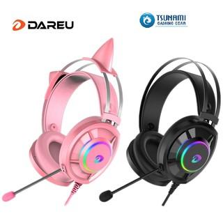 [Mã ELMSCOIN hoàn 8% xu đơn 500K] Tai nghe DAREU EH469 QUEEN RGB (Kèm CAT EARS)/ EH469 BLACK – Hàng chính hãng
