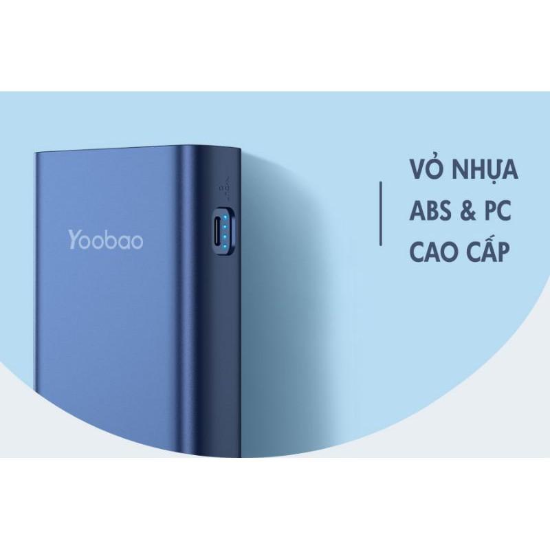 Sạc dự phòng chính hãng YOOBAO L20 Dung lượng 20000mAh sạc cực nhanh tích hợp 2 đèn led