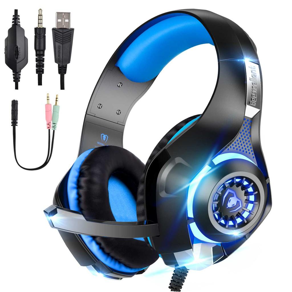 Tai nghe chơi game Beex Wonderful cho PS4 Xbox One PC Mac Bộ điều khiển Tai nghe chơi game đẳng cấp, giắc cắm 3.5
