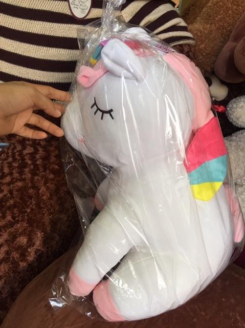 Kỳ lân Unicorn 7 màu vải mịn 50cm