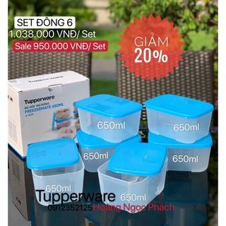 Tupperware - Bộ 6 hộp trữ đông freezermate 650ml có hộp giấy