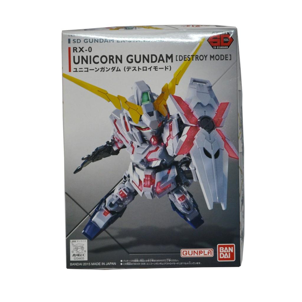 Mô Hình Lắp Ráp Bandai SD EX-Standard Unicorn Gundam (DM)