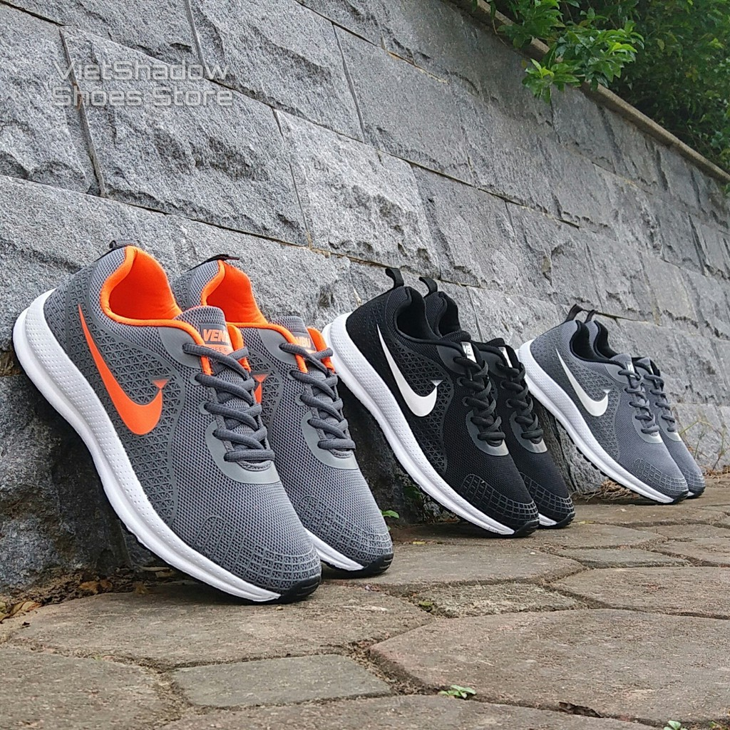? Giày thể thao nam | Sneakers nam thương hiệu Venbu - 3 màu ghi cam, ghi và đen - Mã SP 701