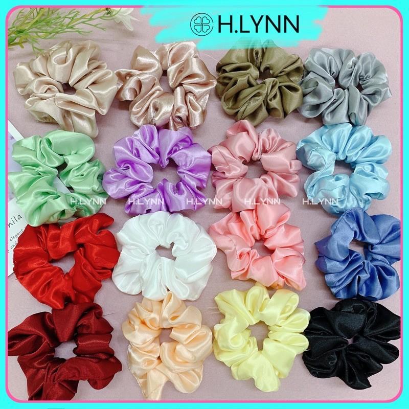 Dây cột tóc vải scrunchies dễ thương nhiều màu