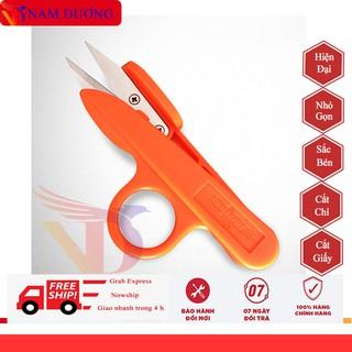 [ Combo ] 5 kéo bấm chỉ vỏ nhựa cao cấp xỏ ngón cute ngón tiện lợi dùng cắt chỉ vải thừa may vá , văn phòng thumbnail