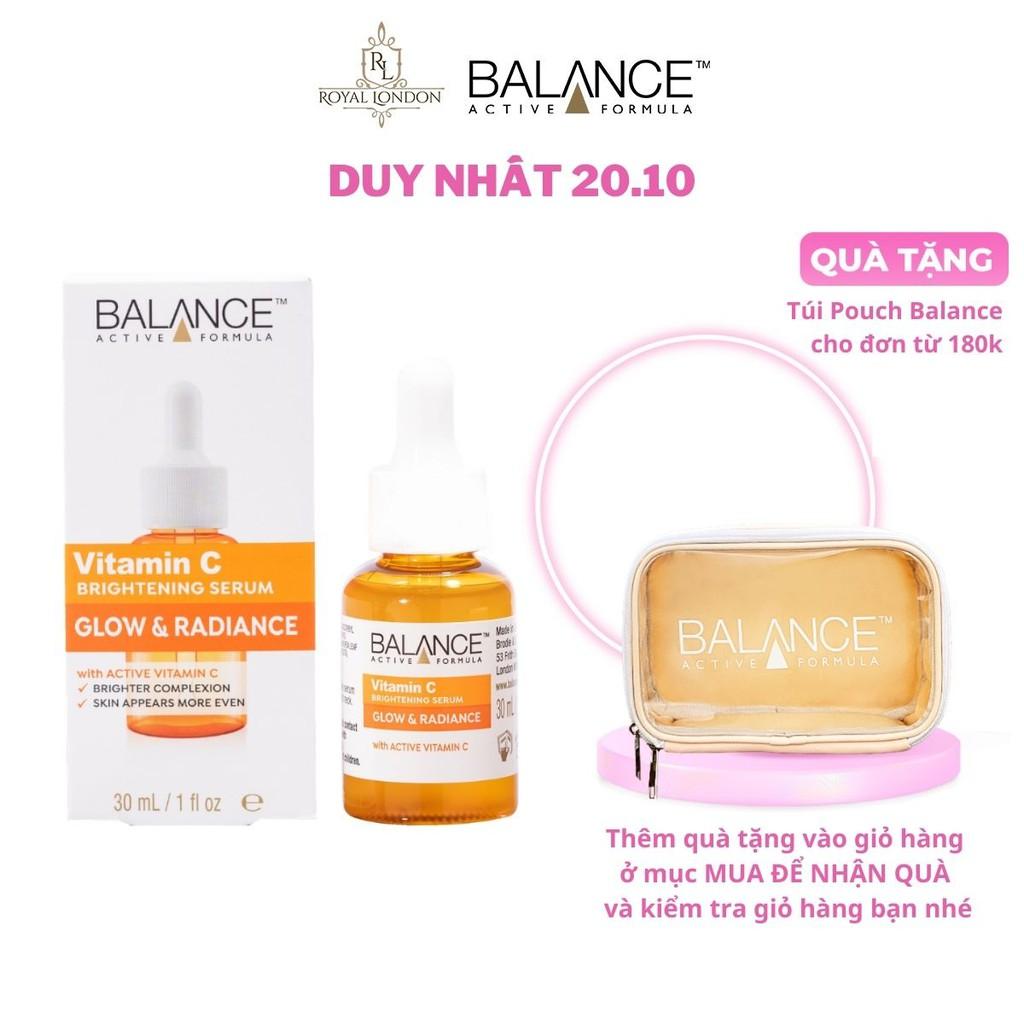 [Mã FMCGMALL giảm 8% đơn từ 250K] Serum Trắng Da, Mờ Thâm Balance Active Formula Vitamin C Brightening 30ml