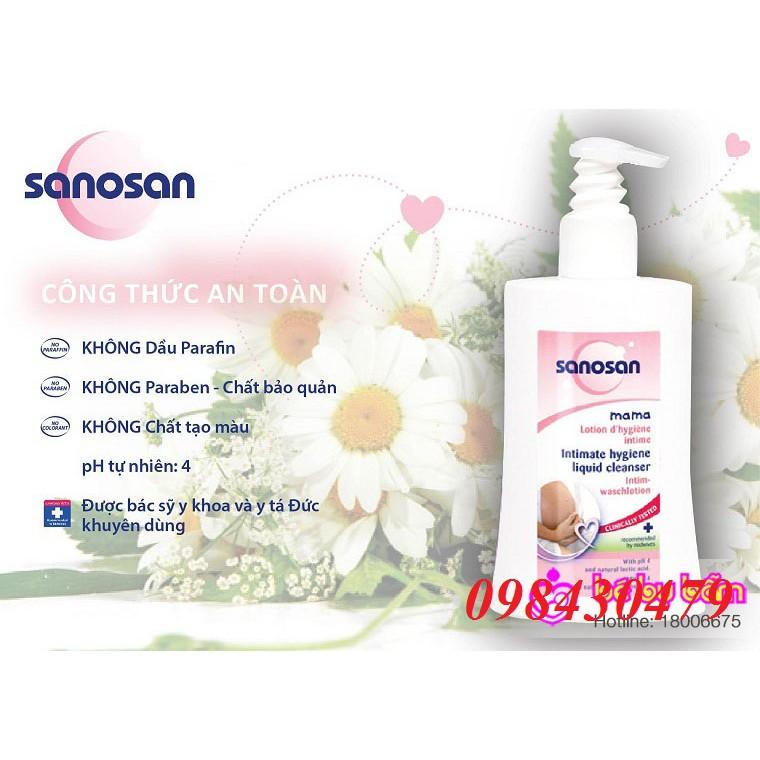 Dung dịch vệ sinh phụ nữ Sanosan 200ml của Đức
