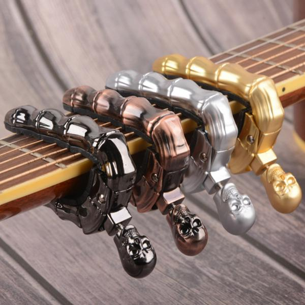 Skull Screw Alloy Capo Key Clamp for Folk Electric Guitar Ukulele