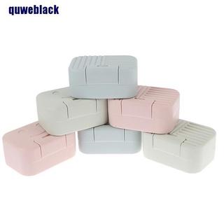 quweblack 1pc Portable Waterproof Soap Dish Bathroom Soap Holder Travel Soap Box DCX