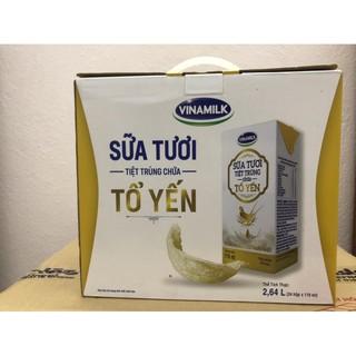 Sữa tươi tiệt trùng tổ yến Vinamilk hộp 110 ml lốc 24 hộp