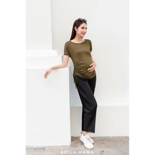 Quần ống xuông bầu thiết kế Bella Quần dập ly bầu nữ thời trang Quần ống sớ bầu mùa hè Co dãn form to đủ size 45-78kg thumbnail