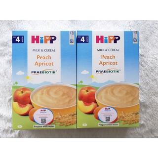 Bột dinh dưỡng HiPP đào, mơ tây 250g (Trên 4 tháng)