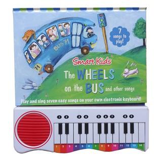 Đồ chơi sách đàn piano UK cho bé 1Y+ – WHEELS ON THE BUS