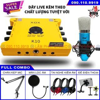 Sound card XOX K10 10th Bản 2020 Và Micro ISK AT100 (Chính Hãng Có Mã Vạch)