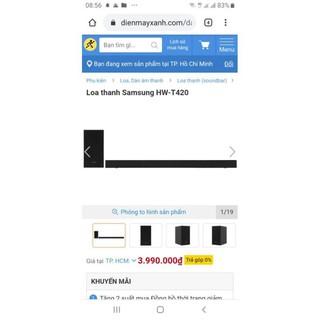 Dàn loa Samsung HW-T420 chính hãng, bao giá rẻ nhất toàn quốc