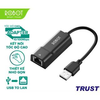 [Mã ELFLASH5 giảm 20K đơn 50K] Thiết Bị Chuyển Đổi Ethernet Adapter ROBOT EA10 USB 2.0 to LAN Tốc Độ 10/100Mbps