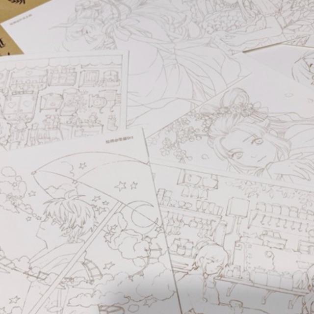 Bộ tranh tô màu in trên giấy Baohong hot 300gsm – hợp với nhiều chất liệu 🐻💕