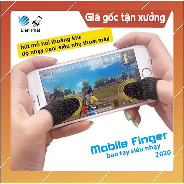 Bộ bao 2 ngón tay chuyên dụng chơi game mobile chống ra mồ hôi tay Mobile Finger 2020 Bao Tay Siêu Nhạy Giá Xưởng