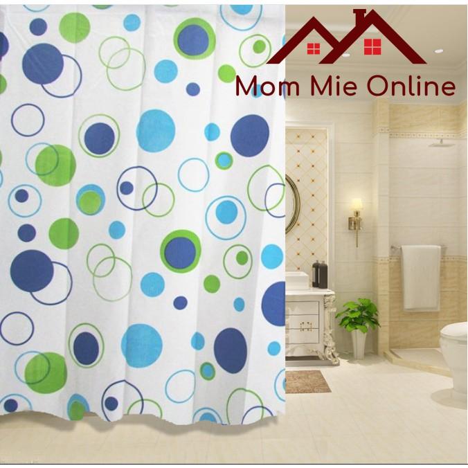 Rèm nhà tắm MỎNG / Rèm cửa sổ PEVA mỏng dài 2m kèm vòng treo - G005