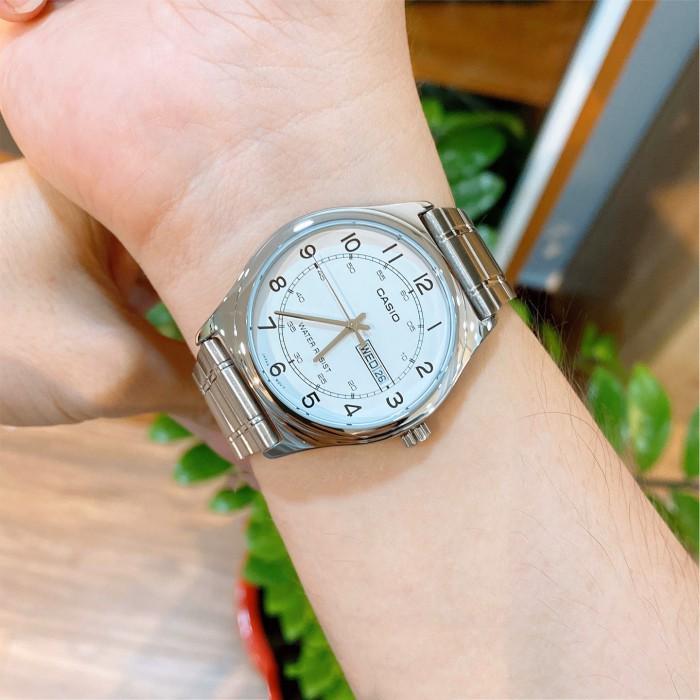Đồng hồ nam dây kim loại chính hãng Casio Anh Khuê MTP-V006D-7B2UDF