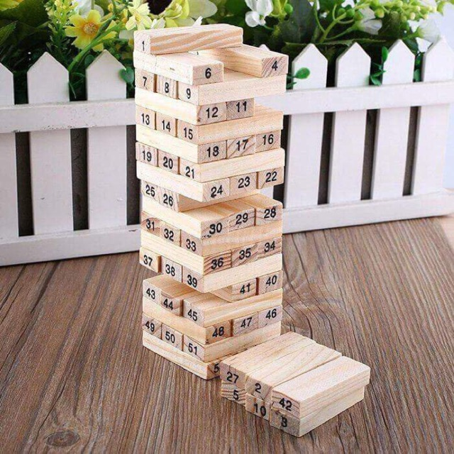Bộ đồ chơi rút gỗ 54 thanh giá rẻ