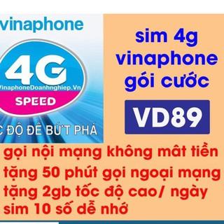 Sim 4g vina VD89 giống v90 số đẹp giá rẽ miễn phí nghe gọi lên mạng được chọn số