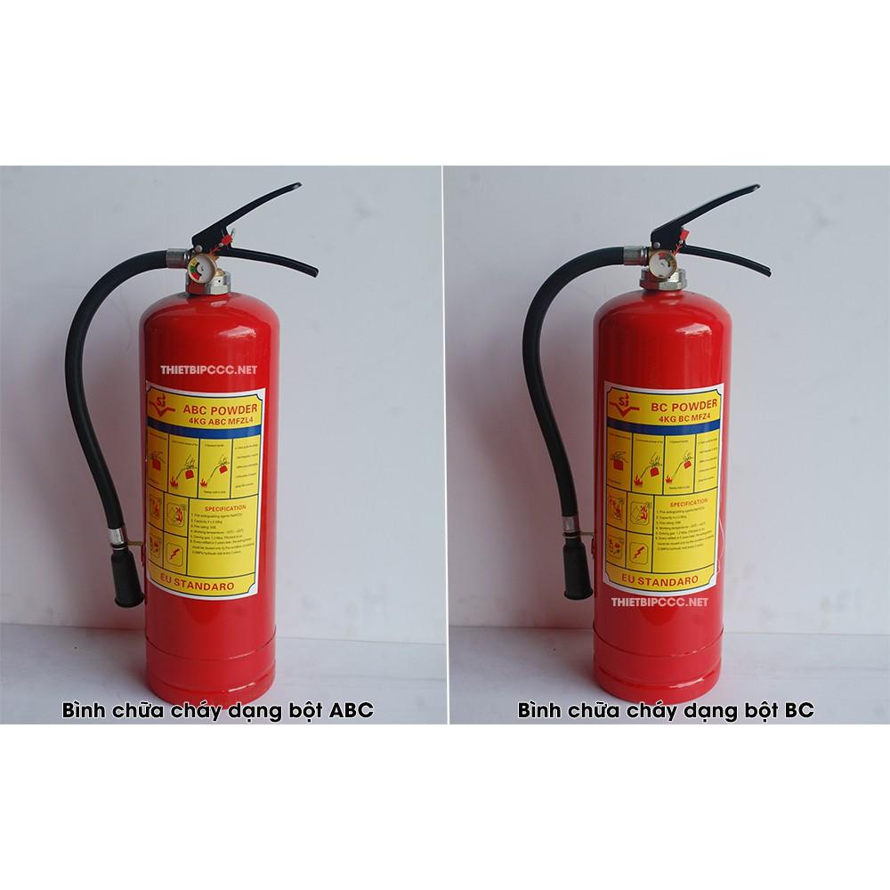 Bình bột chữa cháy 4kg loại BC (MFZ4)/ ABC (MFZL4)